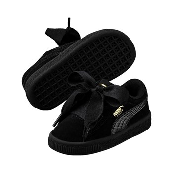 Puma - PS suede heart SNK - Baskets en cuir - noir