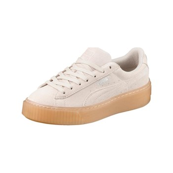 Puma - JR suede plateform JEWEL - Baskets basses - blanc cassé