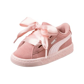 Puma - PS Suede Heart jewel V - Baskets en cuir - rose