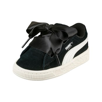 Puma - PS Suede Heart jewel V - Baskets en cuir - noir