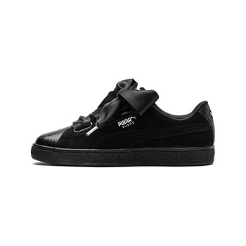 Puma - Suede Heart Bubble - Baskets en cuir - noir