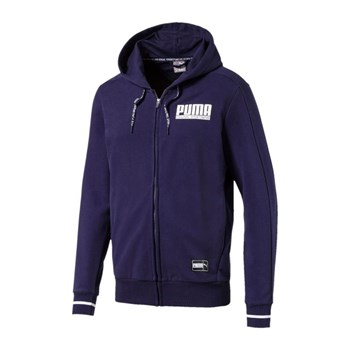 Puma - Athletic - Felpa con cappuccio - blu scuro