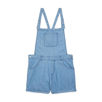 Monoprix Kids - Combi-short chambray - denim bleu