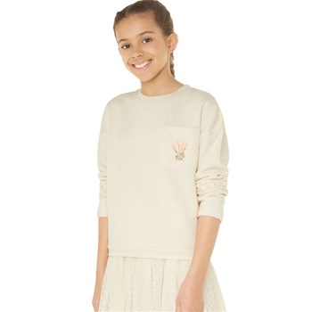 Monoprix Kids - Sweat brodé - ecru