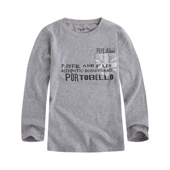 Pepe Jeans London - Jacobe Jr - T-shirt manches longues - gris
