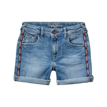 Pepe Jeans London - Mélanie zig zag - Short - denim bleu