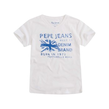 Pepe Jeans London - Fabio Jr - T-shirt manches courtes - blanc