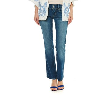 Grace - Jean bootcut - denim bleu
