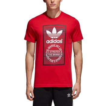 Adidas Originals - Traction Tongue - Kurzärmeliges T-Shirt - rot