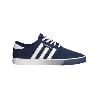 Seeley - Ledersneakers - marineblau