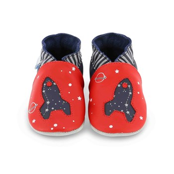 Robeez - Planet travel - Pantoffels - rood