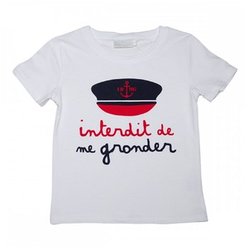 Interdit de me Gronder - Capitaine - T-shirt manches courtes - blanc