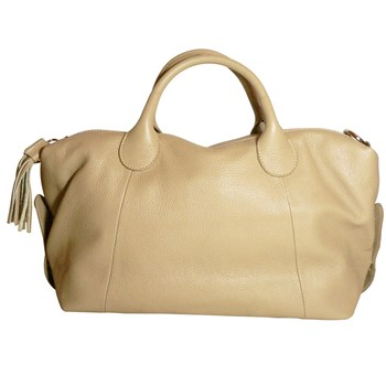 JU&ZO - Le Esther - Grand sac en cuir - beige