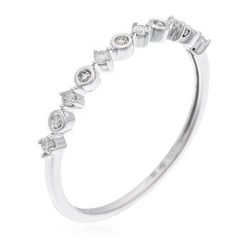 Comptoir du diamant - Elegance - Bague en or et diamants - argenté