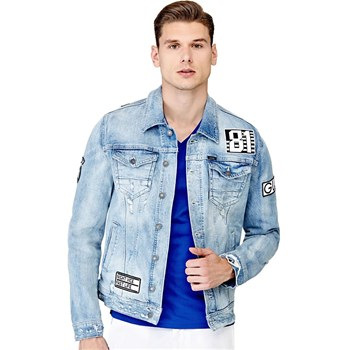 Guess - Veste denim avec applications - denim bleu