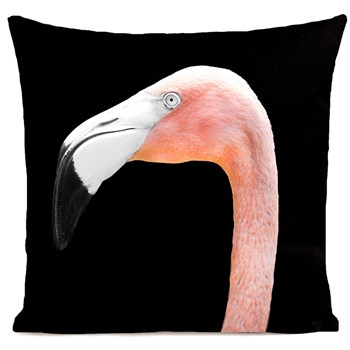 Artpilo - Mr Flamingo - Coussin en velours - noir