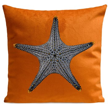 Artpilo - Star Fish - Coussin en velours - marron clair