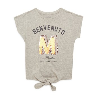 Monoprix Kids - T-shirt noeud - gris