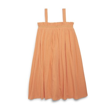 Monoprix Kids - Robe crépon - orange