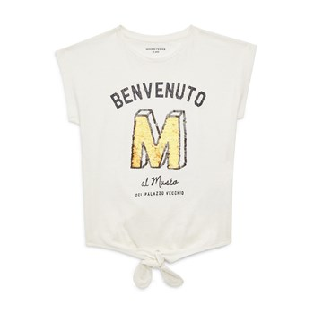 Monoprix Kids - T-shirt noeud - beige