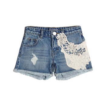 Guess Kids - Short en jean brodé - denim bleu