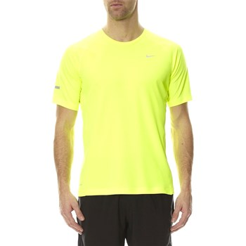 Nike - Miler SS UV (Team) - T-shirt manches courtes - jaune fluo