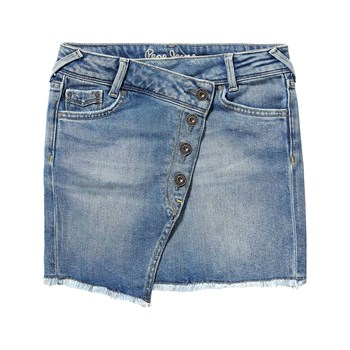 Pepe Jeans London - Alice Fringed - Jupe - bleu jean