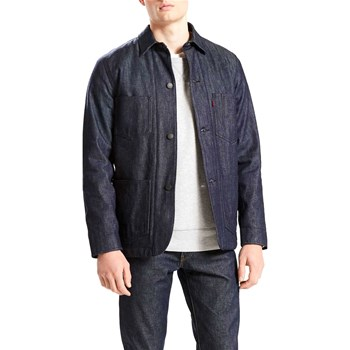 Levi's - Lined Selvedge Utility Coat - Giacca in jeans - blu grezzo