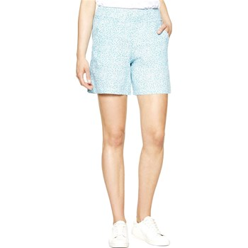 Benetton - Short en lin - bleu