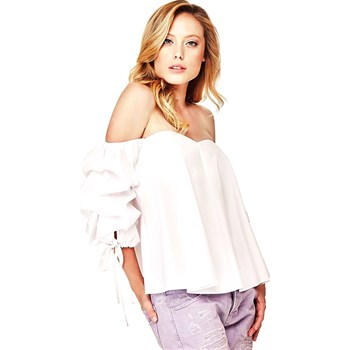 Guess - Top manches bouffantes - blanc