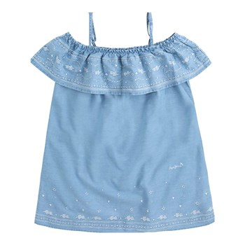 Pepe Jeans London - Daphne Jr - Robe - bleu