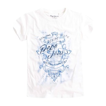 Pepe Jeans London - Freman Jr - T-shirt manches courtes - blanc