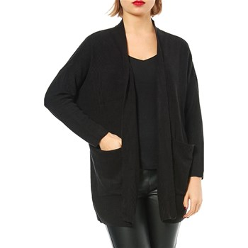 Only - Lange Strickjacke - schwarz