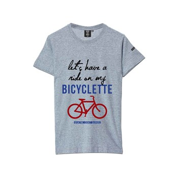 Quatre Cent Quinze - Bicyclette - Kurzärmeliges T-Shirt - grau