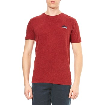 Superdry - Kurzärmeliges T-Shirt - rot
