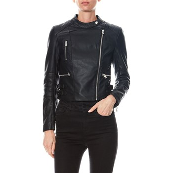 French Connection - Veste biker similicuir - noir