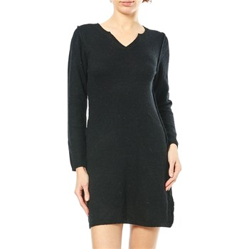 Maille Love - Robe pull 15% laine, 10% cachemire, 10% angora - noir