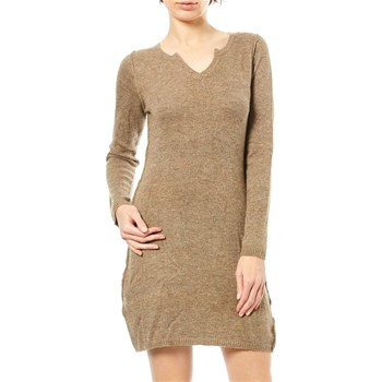 Maille Love - Robe pull 15% laine, 10% cachemire, 10% angora - taupe