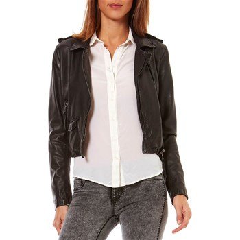 Oakwood - Dakota - Blouson en cuir de mouton - noir