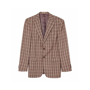 Romano Botta - Blazer in misto lana - marrone scuro