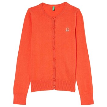 Benetton - Strickjacke - orange