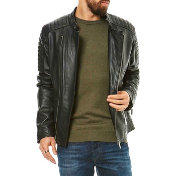 Oakwood - Exclusive - Blouson en cuir de mouton - noir