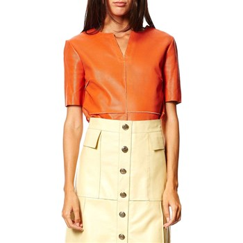 Isaco - Top en cuir - orange