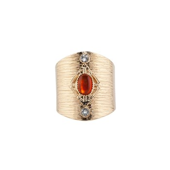 Luma Jewels - Muse - Bague avec amazonite et cristaux - orange
