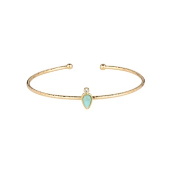 Luma Jewels - Ehawee - Jonc avec amazonite - or