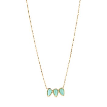 Luma Jewels - Stone - Collier avec amazonite - or