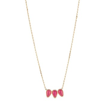 Luma Jewels - Stone - Collier avec amazonite - fuchsia