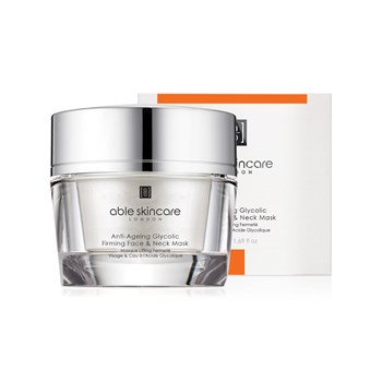 Able Skincare - Anti-Ageing Glycolic Firming Face & Neck Mask - wit