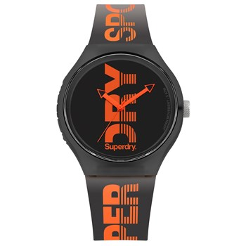 Superdry - Montre avec bracelet en silicone - orange