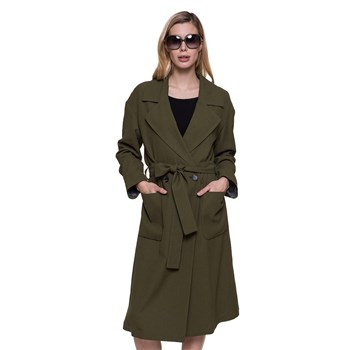 Trench and coat - Long manteau ceinturé - kaki